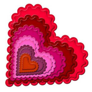 Classic Scalloped Heart, Spellbinders, S4-137