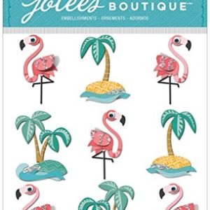 Jolees-Boutique Flamingo & Palm Tree Repeat