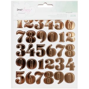 American Crafts Dear Lizzy Numbers Hearts & Circles Sticker Book