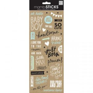 Me and My Big Ideas – MAMBI Sticks – Clear Stickers – Sweet BABY BOY